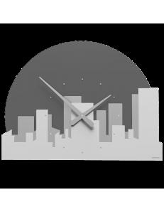 CALLEADESIGN: Skyline orologio metropoli mezzaluna legno color bianco grigio in offerta