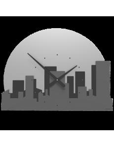 CALLEADESIGN: Skyline orologio da parete moderno legno colore grigio quarzo in offerta