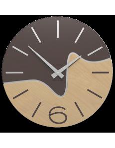 CALLEADESIGN: Oliver orologio da parete moderno legno colore cioccolato in offerta