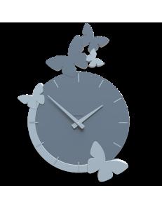 CALLEADESIGN: Butterfly fly orologio da parete tondo moderno legno color carta da zucchero in