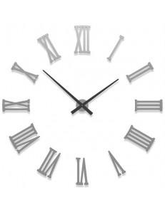 CALLEADESIGN: Orologio da parete adesivo numeri romani legno colore alluminio 124cm in offerta