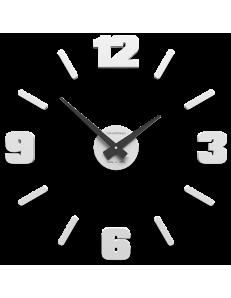 CALLEADESIGN: Orologio da parete moderno numeri adesivi legno bianco 50cm in offerta