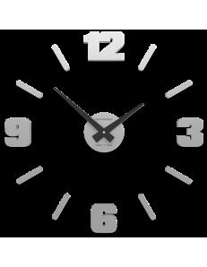 CALLEADESIGN: Orologio da parete numeri moderni adesivi legno colore alluminio 50cm in offerta