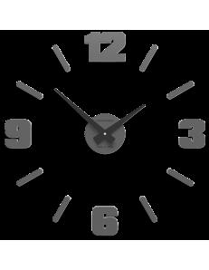CALLEADESIGN: Orologio da parete numeri moderni adesivi legno grigio quarzo 50cm in offerta