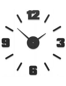 CALLEADESIGN: Orologio da parete moderno numeri adesivi legno nero 50cm in offerta