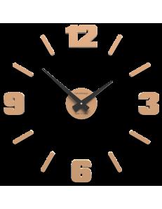 CALLEADESIGN: Orologio da parete numeri adesivi moderni legno colore pesca chiaro 50cm in offerta