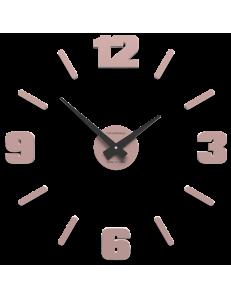 CALLEADESIGN: Orologio moderno da parete numeri adesivi legno rosa antico 50cm in offerta