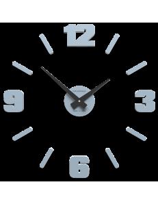 CALLEADESIGN: Orologio da parete moderno legno numeri adesivi colore azzurro polvere 50cm in offerta