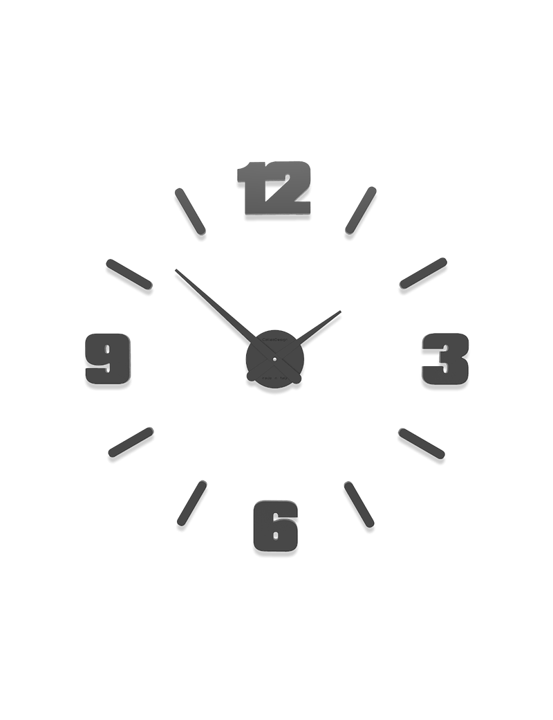 Orologio da parete moderno diametro 64 numeri adesivi for Orologi da parete adesivi