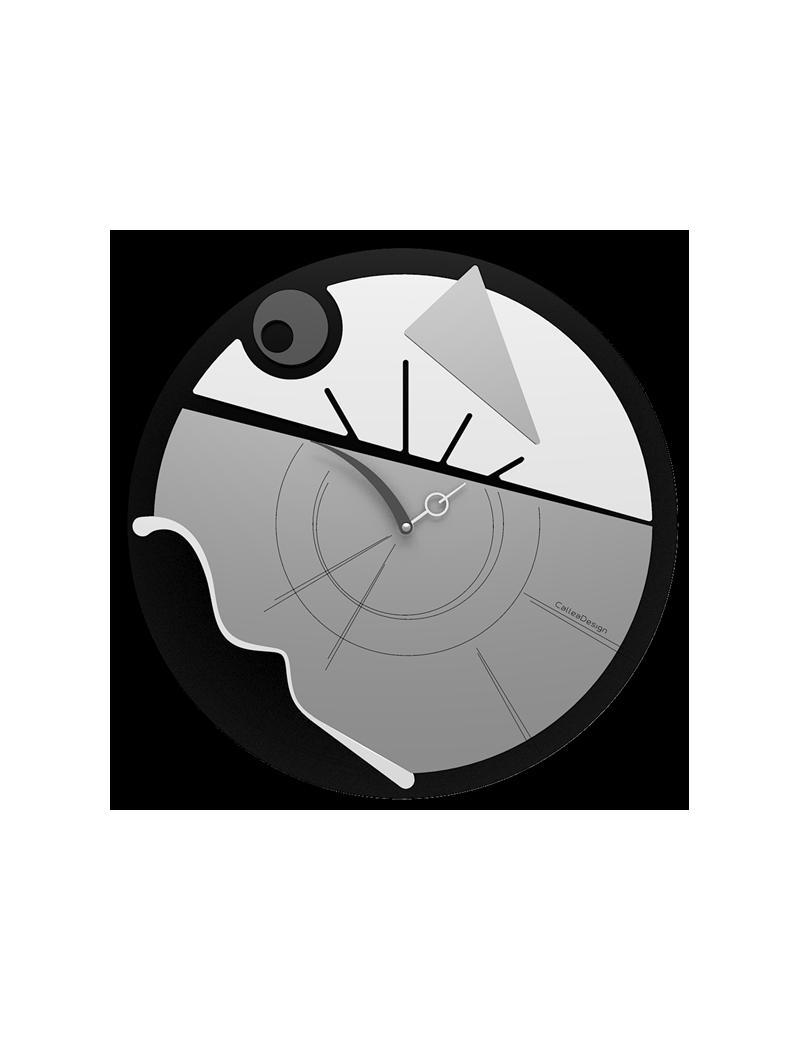 Orologio da parete moderno diametro 38 bianco nero e for Orologi parete moderni