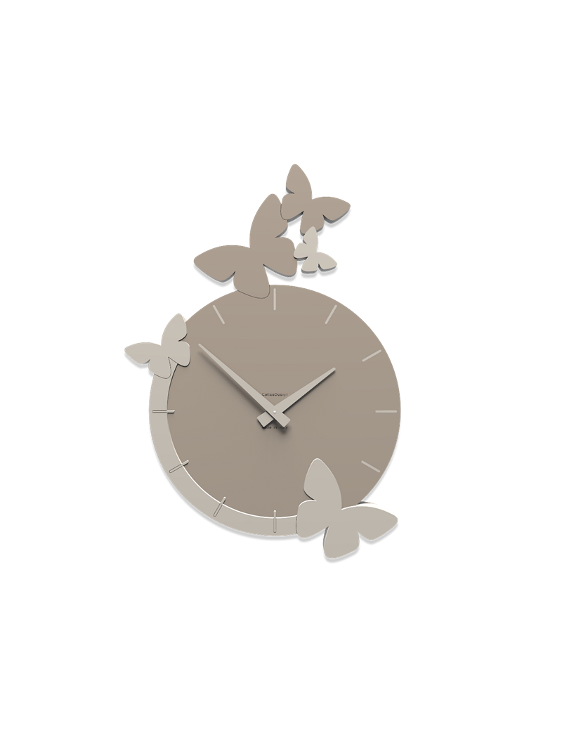 Callea design orologio moderno farfalle da parete colore for Orologio da muro farfalle