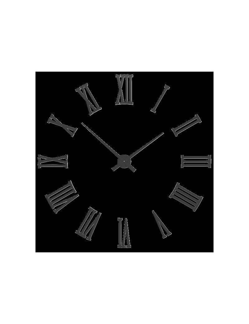 Orologio da parete moderno numeri romani adesivi legno for Foto orologio da parete