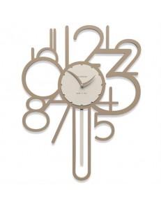 CALLEADESIGN: Joseph orologio a pendolo da parete legno colore caffelatte in offerta