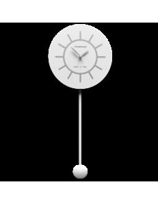 CALLEADESIGN: Filippo orologio a pendolo moderno in legno bianco grigio in offerta