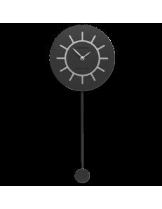 CALLEADESIGN: Filippo orologio a pendolo moderno in legno nero e grigio in offerta