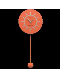 CALLEADESIGN: Filippo orologio a pendolo moderno in legno arancione grigio in offerta