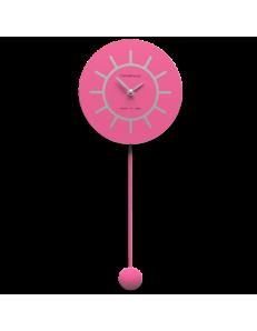 CALLEADESIGN: Filippo orologio a pendolo in legno fucsia e grigio in offerta