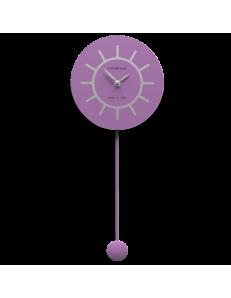 CALLEADESIGN: Filippo orologio a pendolo moderno in legno viola e grigio in offerta