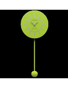 CALLEADESIGN: Filippo orologio a pendolo moderno verde mela e grigio in offerta