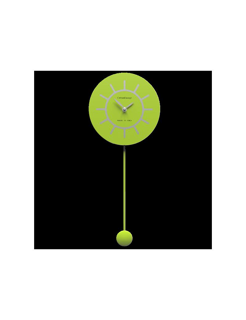 Orologio A Pendolo Moderno.Orologio A Pendolo Moderno Verde Mela E Grigio Filippo Callea Design