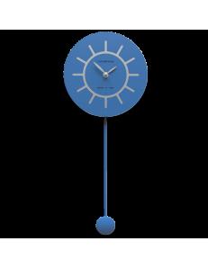 CALLEADESIGN: Filippo orologio a pendolo moderno blu luce e grigio in legno in offerta