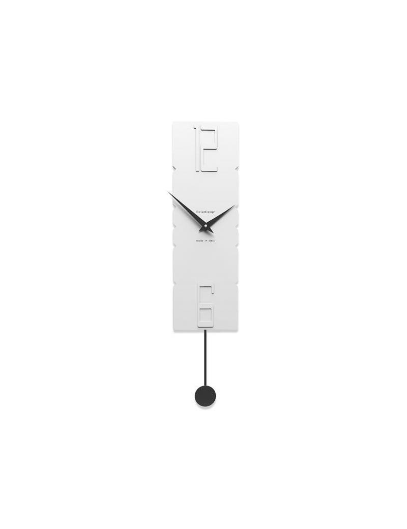 Orologio A Pendolo Moderno.Orologio A Pendolo Da Parete Moderno Callea Design Rock Legno Bianco