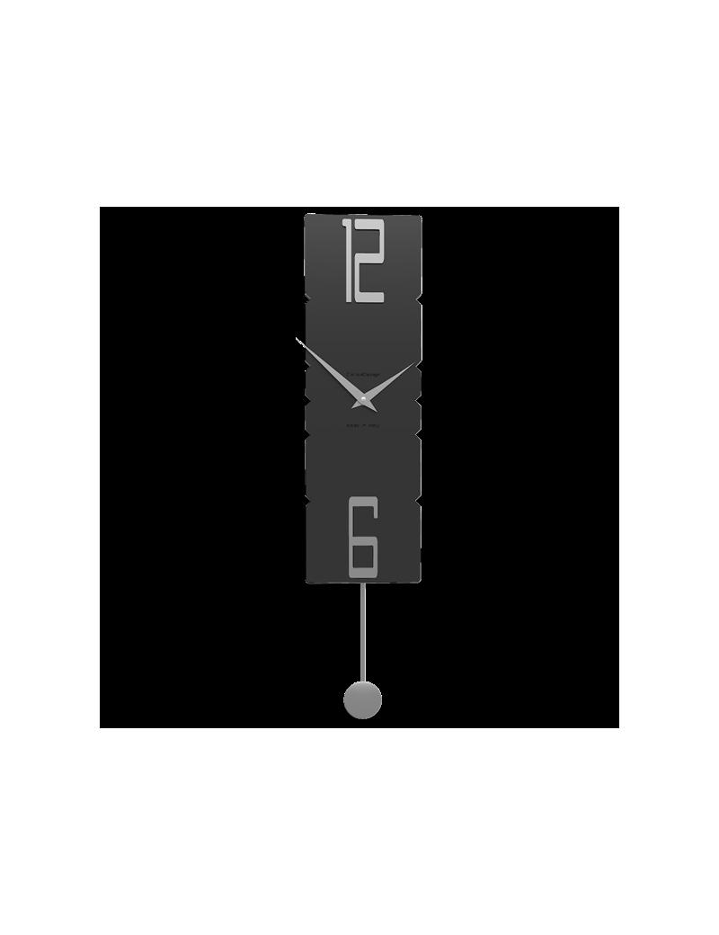 Orologio A Pendolo Moderno.Callea Design Rock Legno Nero Orologio A Pendolo Moderno Da Parete