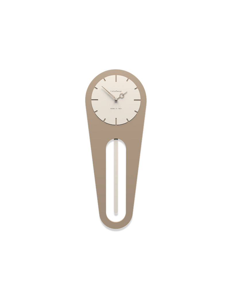 Orologio A Pendolo Moderno.Sally Orologio Da Parete A Pendolo Moderno Legno Colore Caffelatte