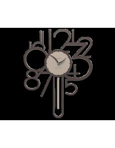 CALLEADESIGN: Joseph orologio a pendolo da parete moderno legno colore cioccolato in offerta