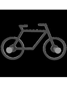 CALLEADESIGN: Appendiabiti nero da parete moderno design Bicicletta in offerta