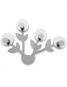 CALLEADESIGN: Francine appendiabiti da parete moderno design pianta legno color bianco grigio in