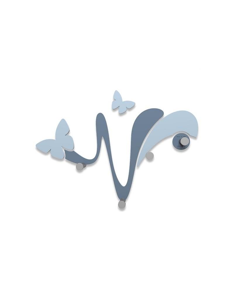 Appendiabiti da parete butterfly legno colore carta da zucchero callea design - Parete carta da zucchero ...