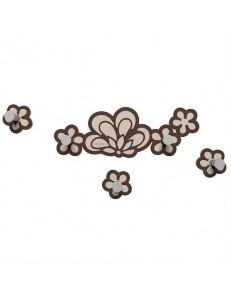 CALLEADESIGN: Merletto appendiabiti floreale da parete moderno legno cioccolato in offerta