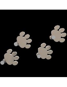 CALLEADESIGN: Orme appendiabiti componibile da parete moderno legno color tortora in offerta
