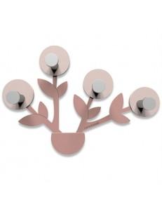 CALLEADESIGN: Francine appendiabiti da parete moderno design pianta legno color grigio prugna in
