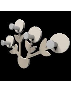 CALLEADESIGN: Francine appendiabiti da parete moderno design pianta legno color tortora in offerta