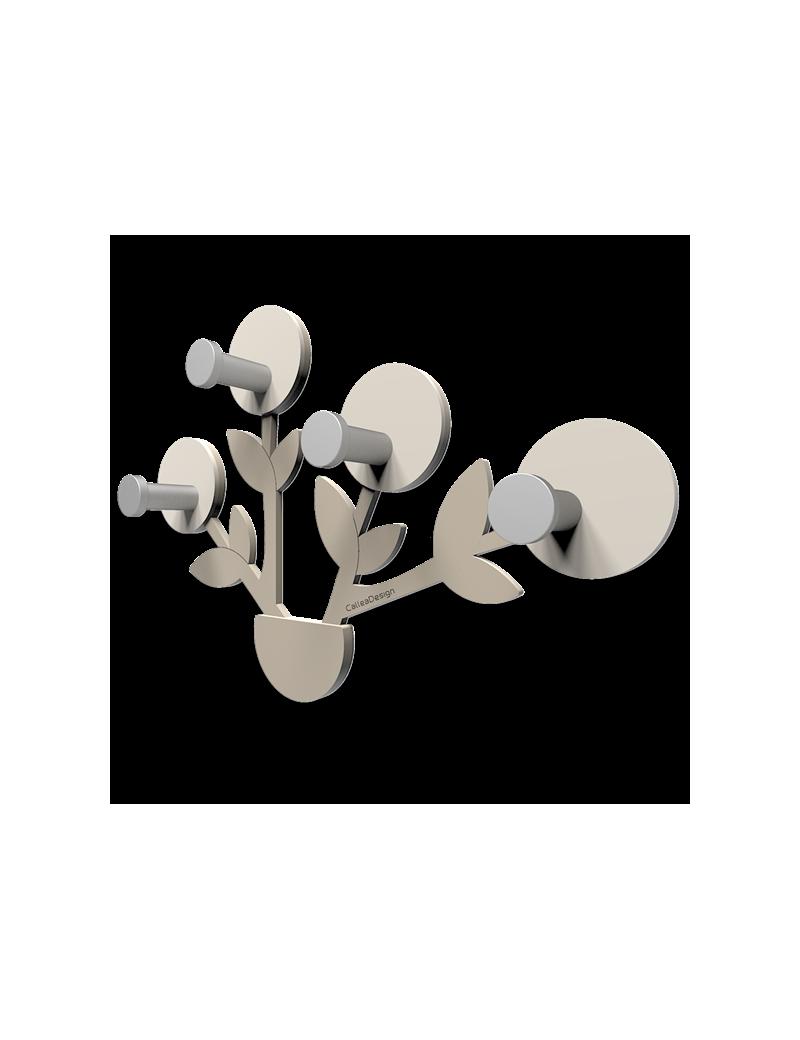 Francine appendiabiti da parete moderno design pianta legno color tortora