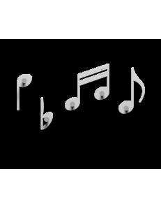 APPENDIABITI DA PARETE NOTE MUSICALI LEGNO BIANCO CALLEA DESIGN