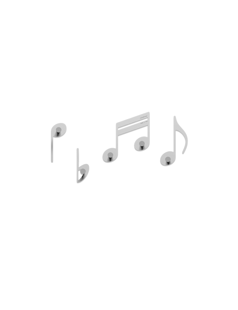 Appendini Da Parete.Appendiabiti Da Parete Note Musicali Legno Bianco Callea Design