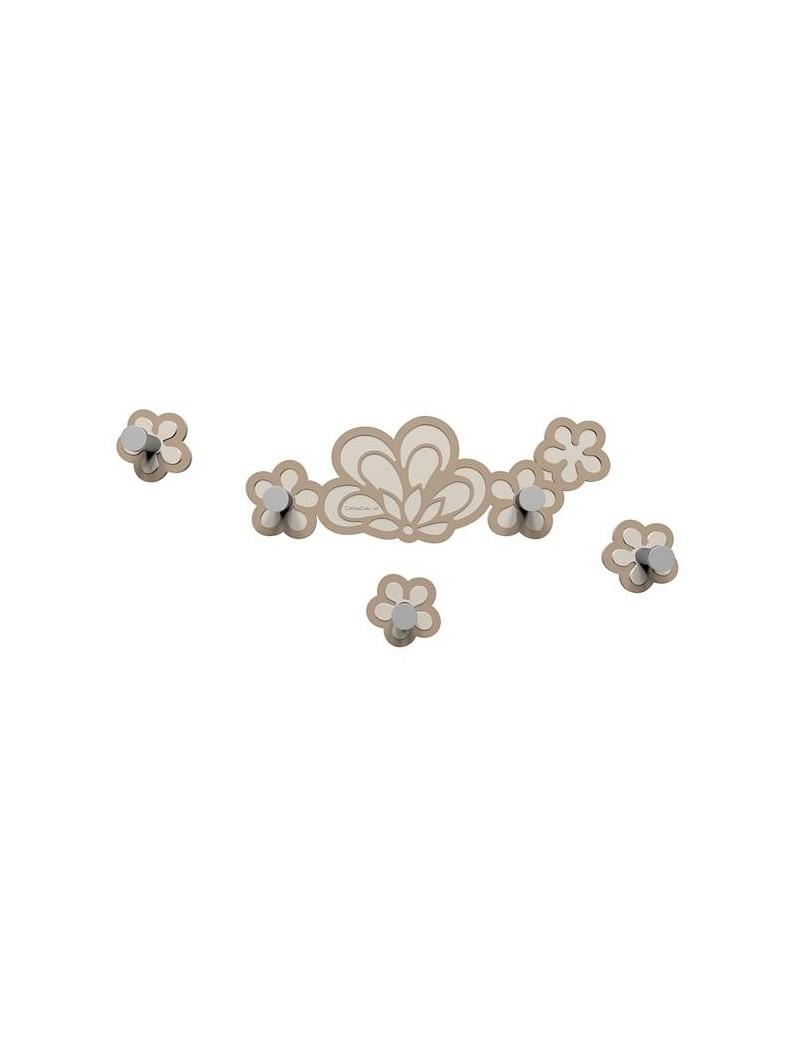 CALLEADESIGN: Merletto appendiabiti floreale da parete moderno legno caffelatte in offerta