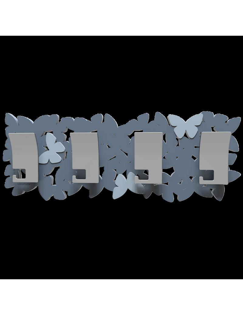 Appendiabiti da parete con farfalle legno colore carta da zucchero callea design - Parete carta da zucchero ...