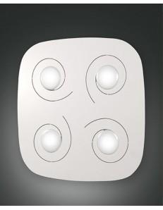 FABAS LUCE: Marlin plafoniera LED quadrata bianca 28w luce calda 45x45cm in offerta