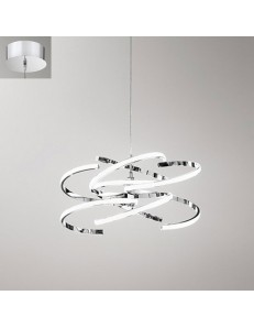 Perenz: Sospensione LED moderna metallo cromo luce naturale in
