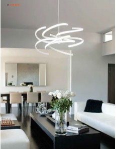 Perenz: Sospensione LED moderna metallo bianco luce naturale in