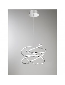 Perenz: Sospensione LED 100watt metallo cromo lucido luce