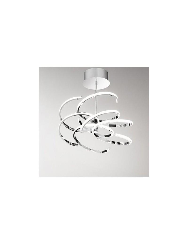 PERENZ: Plafoniera moderna LED metallo cromo lucido luce naturale in offerta