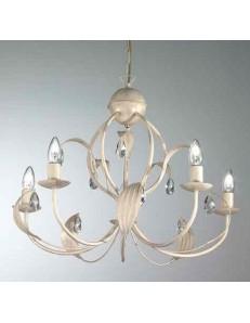 MR DESIGN: lancillotto lampadario5 luci metallo artigianale con gocce in cristallo camera soggiorno