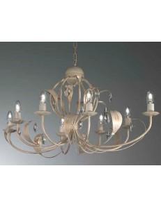 MR DESIGN: lancillotto lampadario 8 luci ovale artigianale con gocce in cristallo camera soggiorno