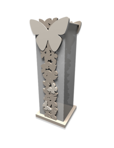 CALLEADESIGN: Portaombrelli moderno design farfalle legno tortora in offerta