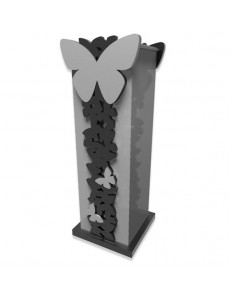 CALLEADESIGN: Portaombrelli design farfalle legno grigio nero in offerta